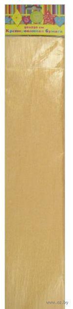 Бумага крепированная перламутровая (желтый)