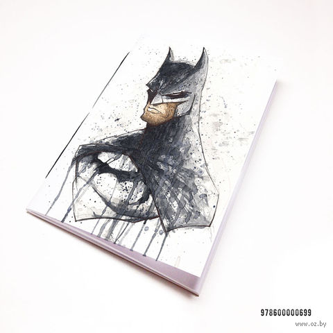 """Блокнот белый """"Бэтмен"""" А7 (арт. 699)"""