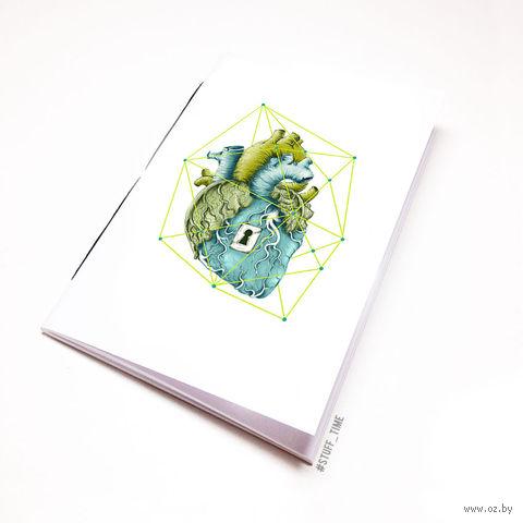 """Блокнот """"Сердце"""" (А5; арт. 719)"""