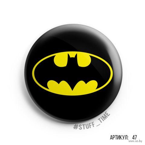 "Значок маленький ""Бэтмен"" (арт. 047) — фото, картинка"