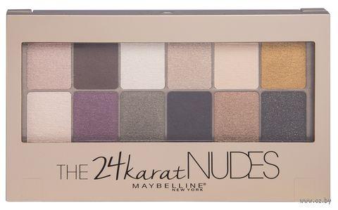 """Палетка теней для век """"The 24 Karat Nudes"""" (12 оттенков) — фото, картинка"""
