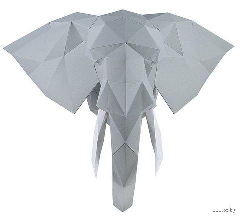 """3D-конструктор """"Слон Володя"""" (серебристый) — фото, картинка"""