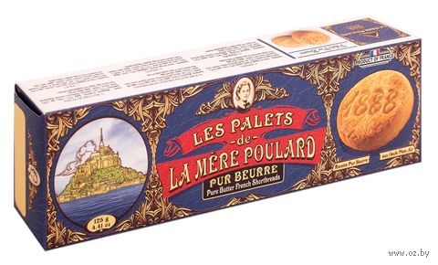 "Печенье сливочное ""La Mère Poulard. Shortbread"" (125 г) — фото, картинка"