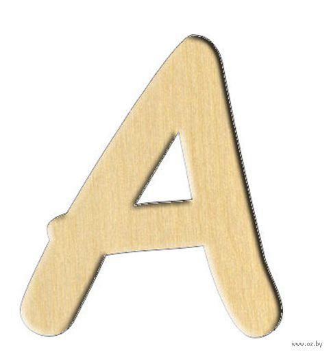"""Заготовка деревянная """"Английский алфавит. Буква A"""" (61х70 мм)"""