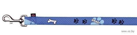 "Поводок для собак ""Modern Art. Woof"" (размер XS-S; 120 см; голубой)"