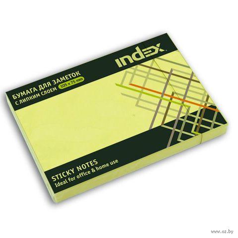 Стикеры (75х105 мм; 100 листов; желтый) — фото, картинка