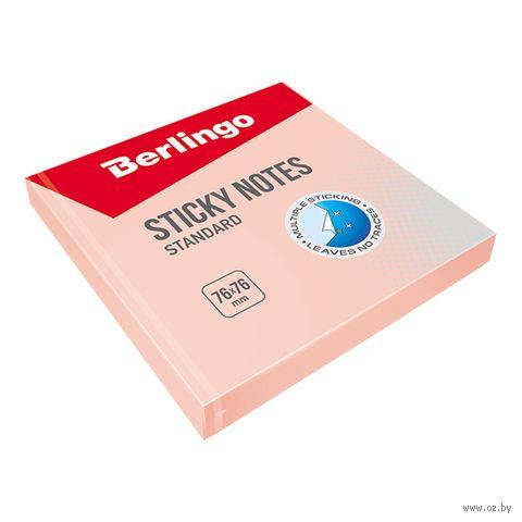 """Бумага для заметок на клейкой основе """"Стандарт"""" (розовая; 100 листов)"""