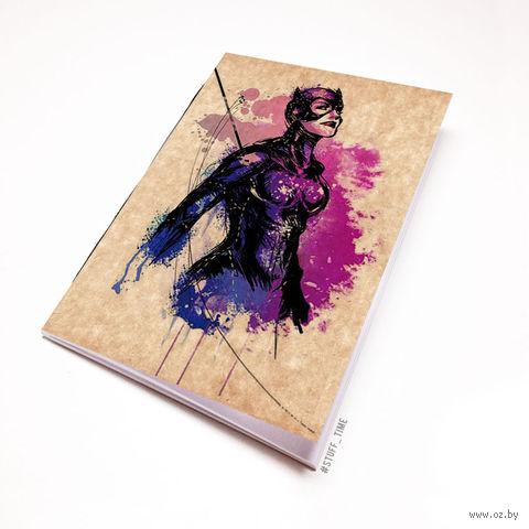 """Блокнот крафт """"Женщина-кошка"""" (А5; арт. 882) — фото, картинка"""