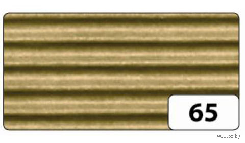 Картон гофрированный (золото; 0,5х0,7 м)