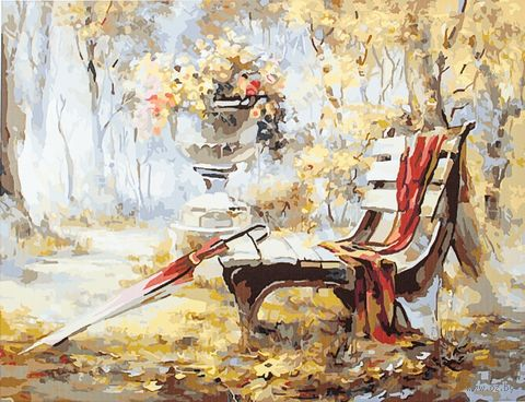 "Картина по номерам ""Осень в парке"" (400х500 мм) — фото, картинка"