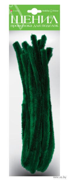 Проволока пушистая №4 (10 шт.; темно-зеленая) — фото, картинка