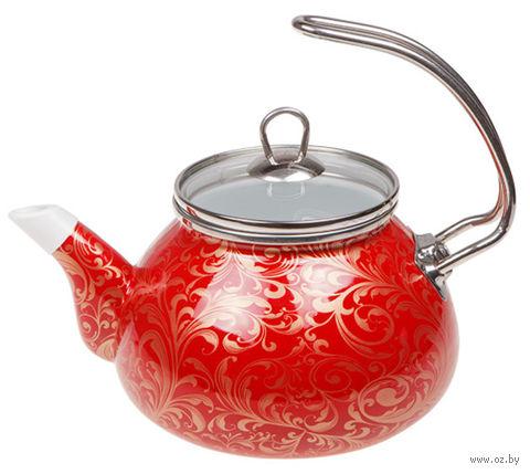 """Чайник стальной эмалированный """"Страсть"""" (2,2 л) — фото, картинка"""