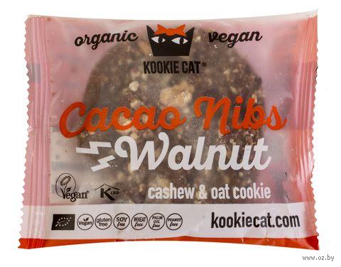 """Печенье """"Kookie Cat. Грецкий орех и какао крупка"""" (50 г) — фото, картинка"""