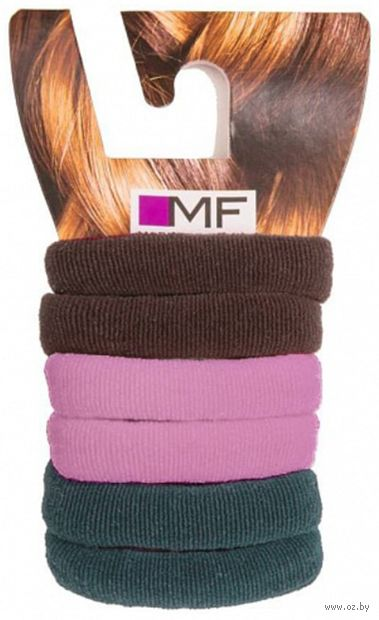 """Набор резинок для волос """"Пурпурный"""" (6 шт.) — фото, картинка"""