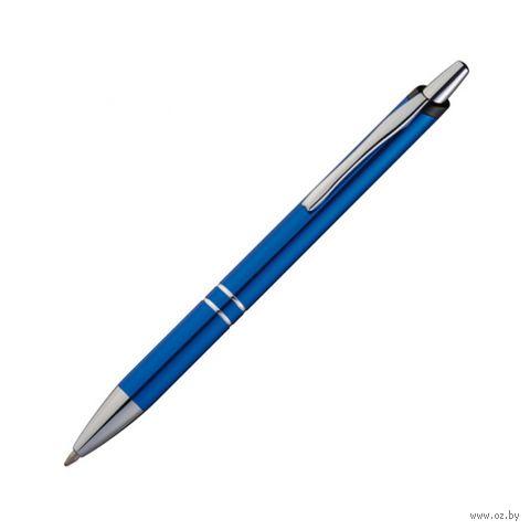 """Ручка шариковая автоматическая """"Macau"""" (цвет корпуса: синий; цвет чернил: синий)"""