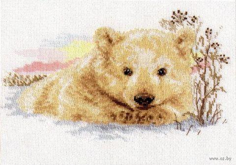"""Вышивка крестом """"Северный медвежонок"""""""
