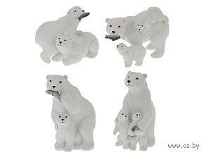 """Статуэтка пластмассовая """"Белые медведи"""" (135 мм)"""