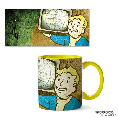 """Кружка """"Fallout"""" (арт. 596, желтая)"""