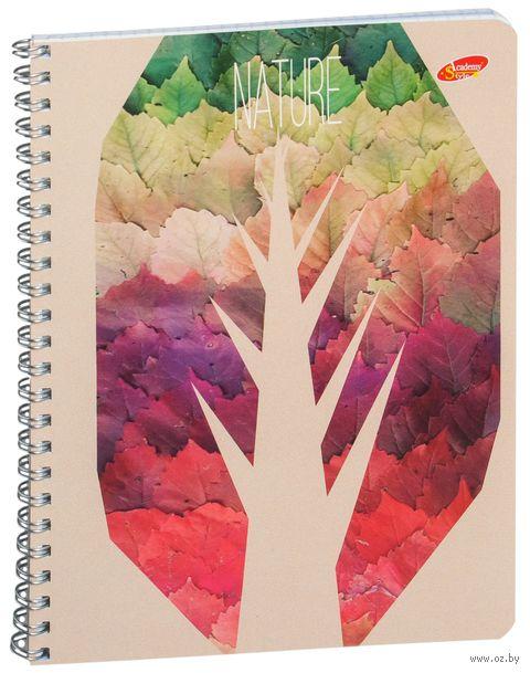 """Тетрадь в клетку """"Стилизованные деревья"""" (48 листов)"""