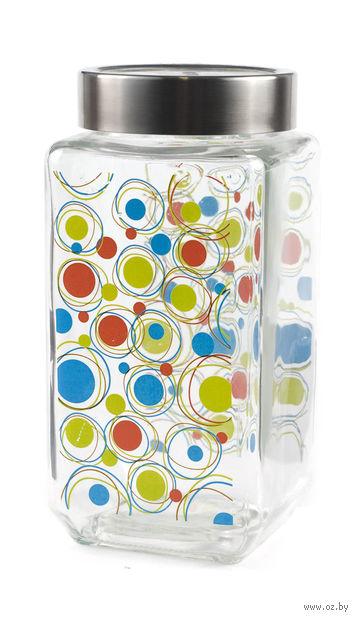 Банка для сыпучих продуктов стеклянная (1,1 л; арт. 66224S-2P)