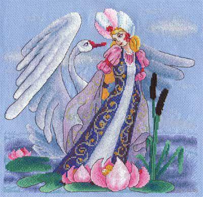 """Вышивка крестом """"Царевна-Лебедь"""""""