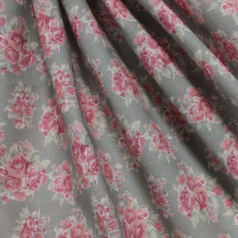 """Ткань """"Розы, клетка и листочки"""" №7 (48х50 см) — фото, картинка"""