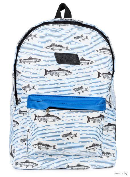 """Рюкзак """"Рыбки"""" (15 л; белый) — фото, картинка"""