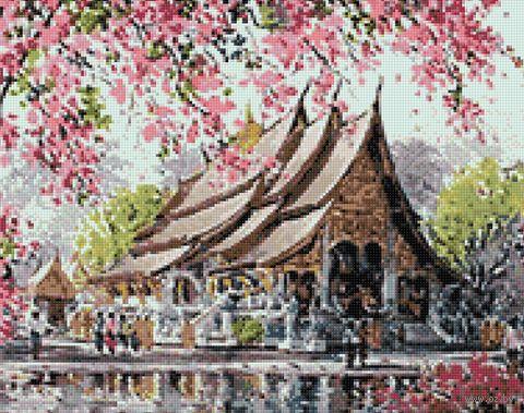 "Алмазная вышивка-мозаика ""Пагода"" (480х380 мм) — фото, картинка"