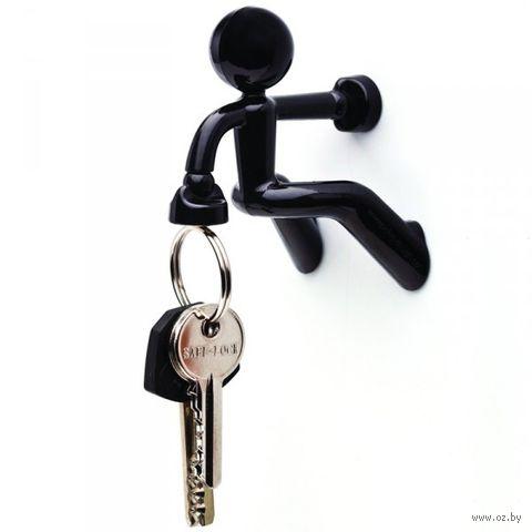 """Держатель для ключей магнитный """"Key Pete"""" (черный)"""
