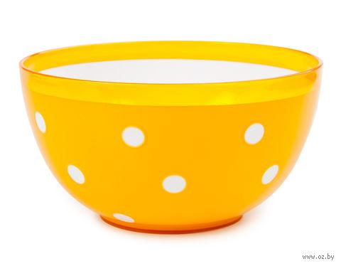 "Салатник двухцветный ""Marusya"" (1,4 л; оранжевый) — фото, картинка"