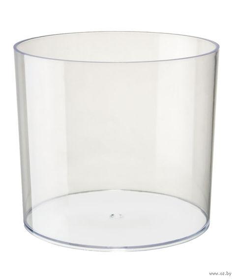 """Цветочный горшок """"Цилиндр"""" (15 см; прозрачный) — фото, картинка"""