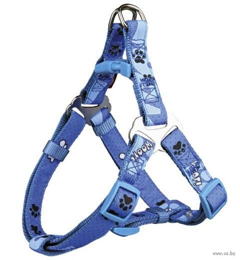 """Шлея для собак """"Modern Art Harness Woof"""" (размер XXS-XS; 25-35 см; голубой)"""
