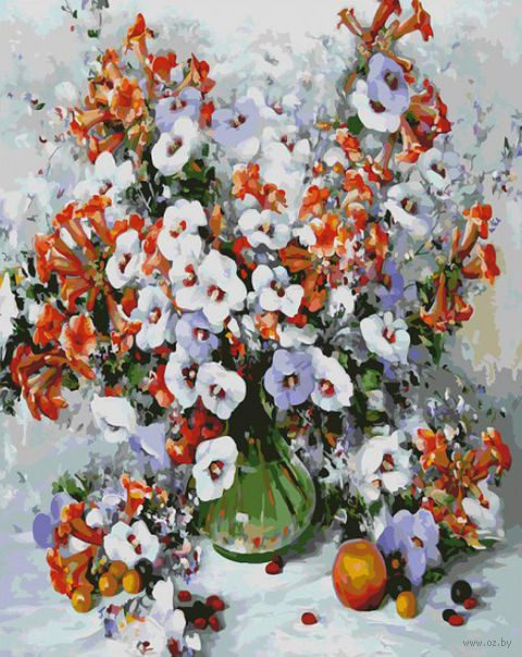 """Картина по номерам """"Городские цветы"""" (400х500 мм)"""
