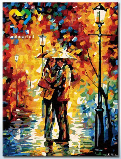 "Картина по номерам ""Под дождем"" (300x400 мм; арт. HB3040087) — фото, картинка"