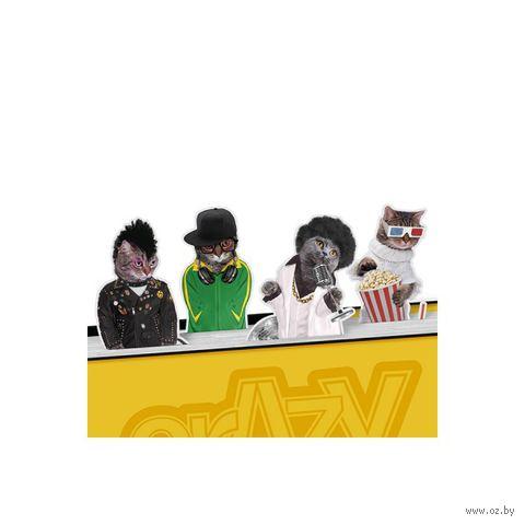 """Набор магнитных закладок """"Crazy Cats"""""""