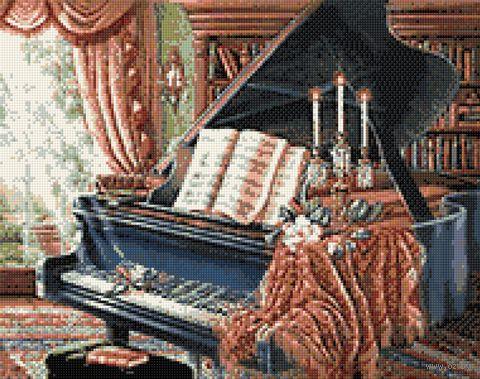 "Алмазная вышивка-мозаика ""Старый Рояль"" (480х380 мм) — фото, картинка"