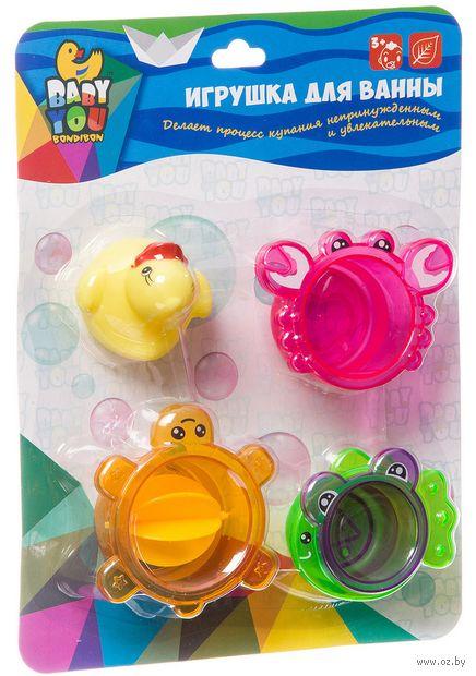 """Набор игрушек для купания """"Стаканчики с уточкой"""" (5 шт.) — фото, картинка"""