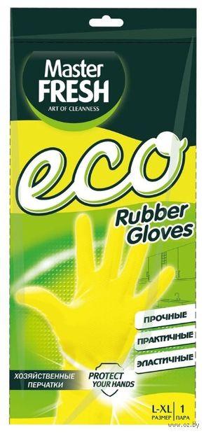 """Перчатки хозяйственные латексные """"Eco"""" (L-XL; 1 пара) — фото, картинка"""