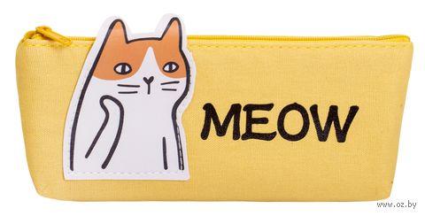 """Пенал """"Кот"""" (жёлтый) — фото, картинка"""