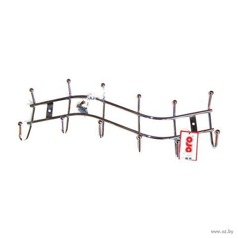 Вешалка настенная металлическая (6 крючков)