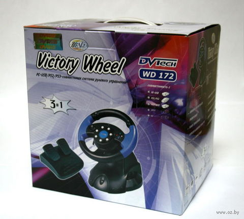 PS 3 Руль DVTech WD172 Victory Wheel PS3/PS2/PC