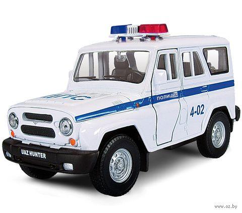 """Модель машины """"УАЗ Хантер. Полиция"""" (масштаб: 1/36)"""