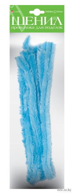 Проволока пушистая №12 (10 шт.; светло-голубая) — фото, картинка