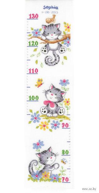 """Вышивка крестом """"Ростомер. Игривые котята"""" (180х700 мм) — фото, картинка"""