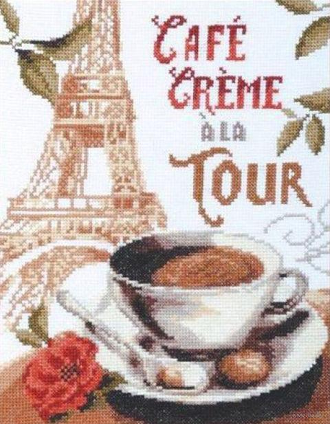 "Вышивка крестом ""Кофе со сливками"" (190х250 мм) — фото, картинка"