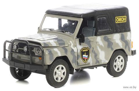 """Модель машины """"УАЗ-469. Омон"""" (масштаб: 1/24)"""