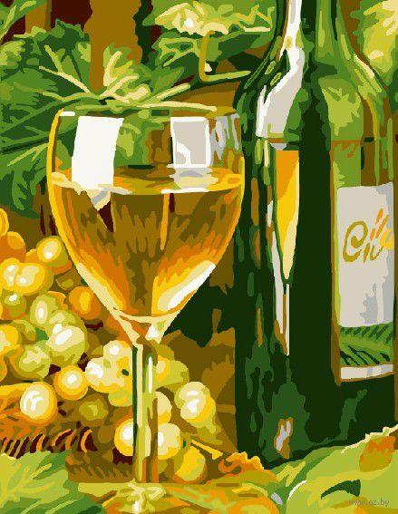 "Картина по номерам ""Белое вино"" (300х400 мм; арт. PC3040055) — фото, картинка"