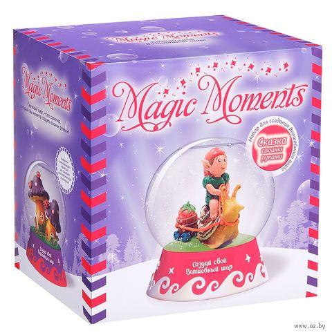 """Набор для лепки """"Создай волшебный шар со снегом. Фиолетовый"""" — фото, картинка"""