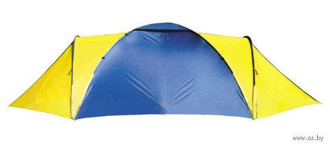 """Четырехместная двухслойная палатка """"Юрта-4-2"""" (серо-желтая)"""