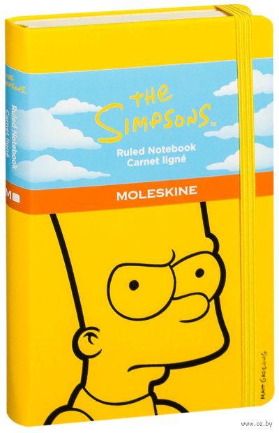 """Записная книжка Молескин """"The Simpsons"""" в линейку (карманная; твердая желтая обложка)"""
